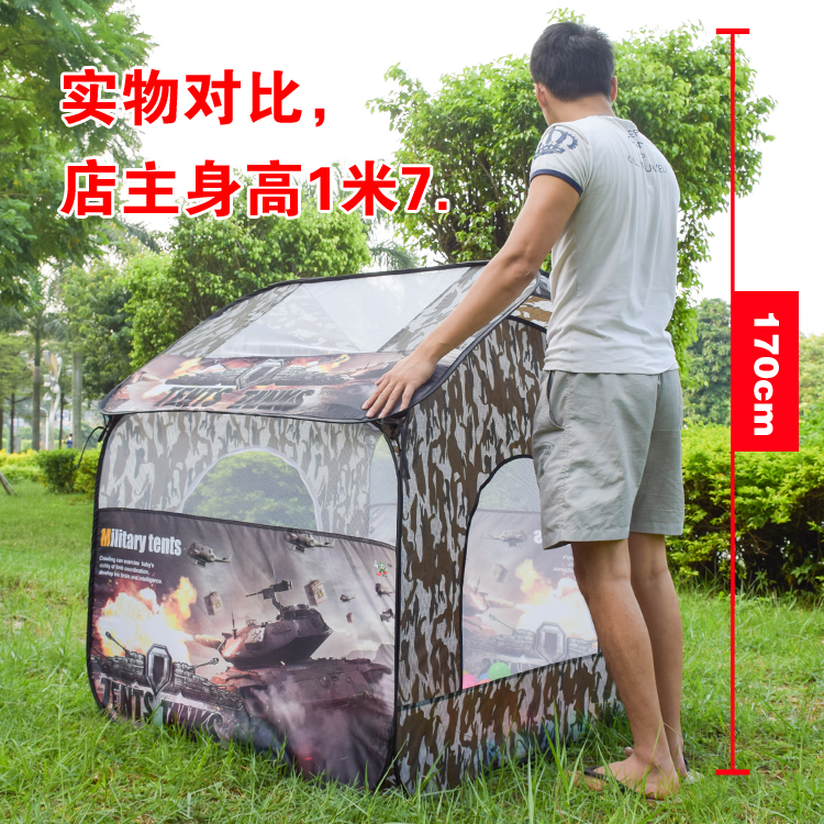 Children's super camouflage house Children tent room Indoor and outdoor toys tunnel tent baby reptile house new arrival indoor outdoor large children s house game room children s toys 3 in 1 square crawl tunnel folding kid play tent