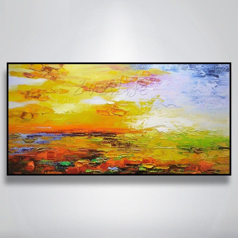 Ручная роспись холст картины маслом стены искусства фотографии для гостиной дешевая современная абстрактная картина маслом пейзаж холст