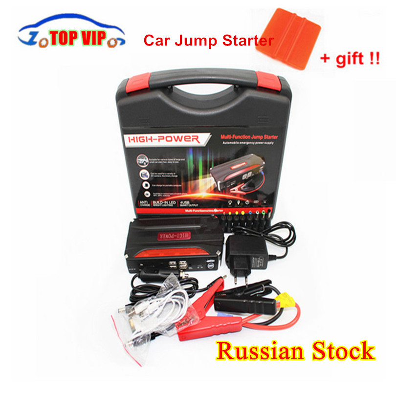 600A Peak Current Car Jump Starter Power Emergency Start 12V Petrol/Diesel Car Power Bank Multi-Function 4 USB Booster Charger high quality 12v mini emergency car jump starter multi function power bank 9900mah battery charger booster cellphone petrol