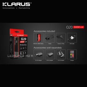Image 5 - Orijinal KLARUS G20 XHP70 N4 LED 3000 lümen el feneri çift anahtarı Mini ışıldak 26650 pil ile 5000 mAh