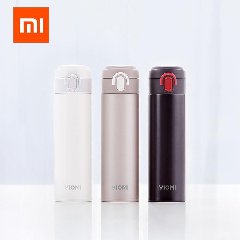 Termo Original Xiaomi Mijia VIOMI termo de acero inoxidable frasco botella de agua 24 horas termo 300 ml de una sola mano en/cierre