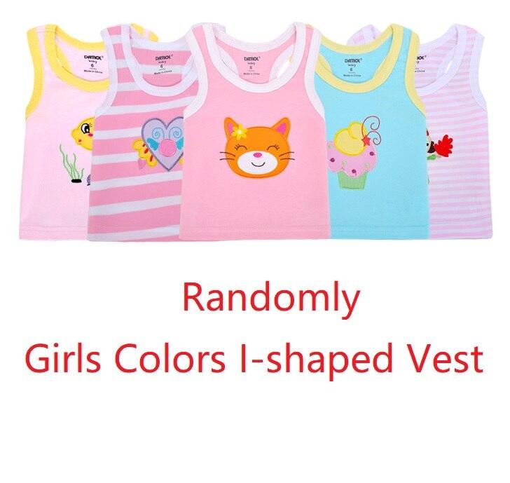 2019 Summer Baby Boy Tops Sleeveless Girls Vest Tanks Camisoles Newborn Undershirts Children T-Shirt Cotton Tee Shirts 0-3Y 10