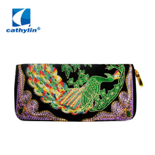 Cathylin 2016 Vintage Embroidery Clutch Handbag Tote Purse Women Handbags Casual Leather Bag