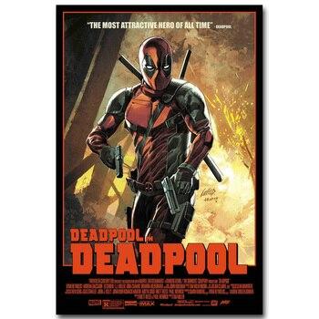 Póster de tela Deadpool superhéroe arte de seda estampado 13x20 24x36 pulgadas imagen de película caliente para decoración para las paredes del salón 015