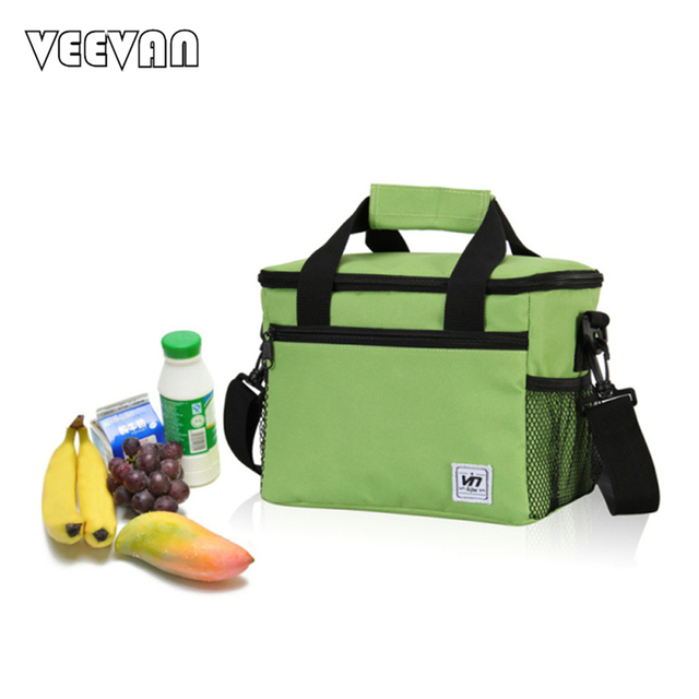 600D Material 24*16*19 CM Large Insulated Thermal Cooler Bags for Food Storage, Picnic, Travel Ice Bags Men Women Tote Handbags