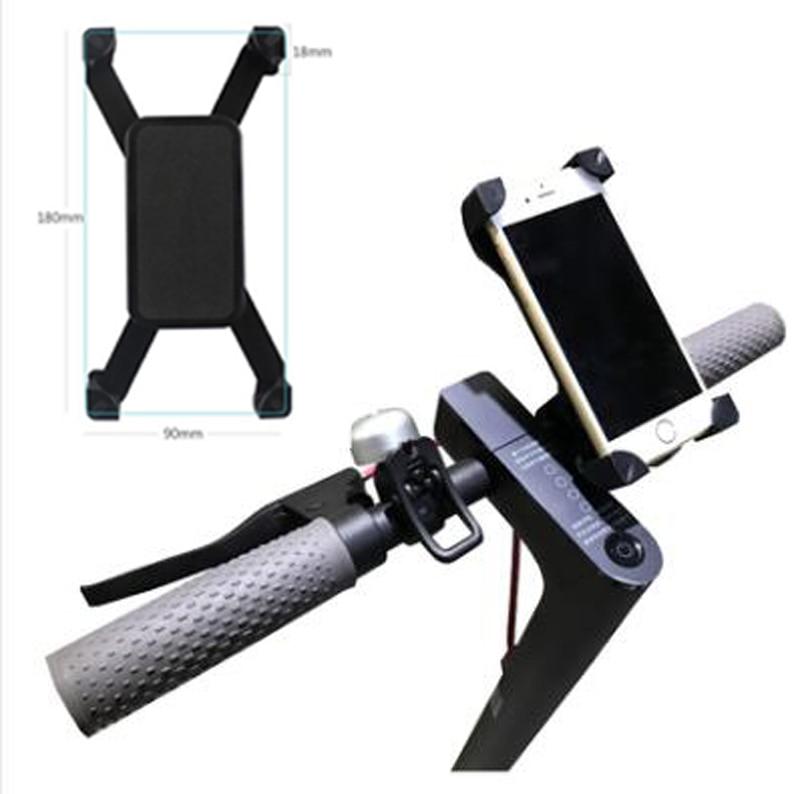 Einstellbare Roller Telefon Halter Handbar Clip Ständer Halterung für Xiaomi Mijia M365 Elektrische Skateboard Qicycle EF1 Bike Anti-Slip
