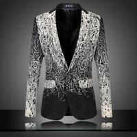 Loldeal 2018 mens floral blazer men blazer designs mens blazer jacket veste homme costume black casual suit men blazer slim fit