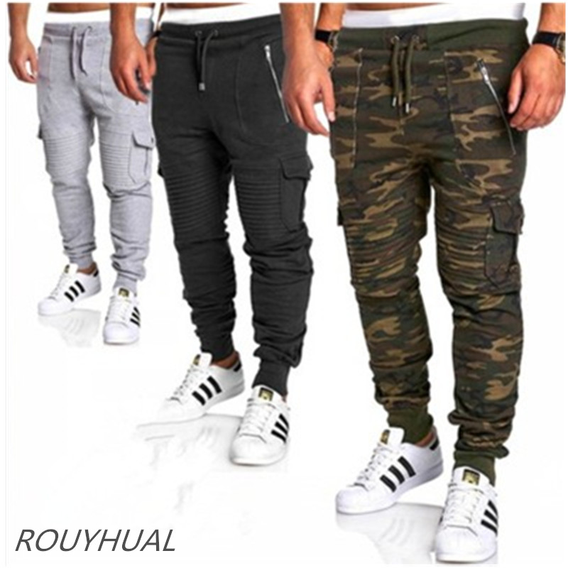 Brand new men's casual pants military camouflage pocket pants