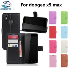 """(OUZIFISH)Luxury Phone Fundas Case For Doogee X5 Max Pro / Doogee X5 Max 5.0"""" Coque Flip Cover Wallet PU Leather Bags Skin"""