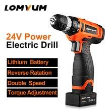 LOMVUM Cordless 24 V Puncher Bohrmaschine Einstellbare geschwindigkeit handheld mini schraubendreher Aufladen Li-Ion akku elektrowerkzeug