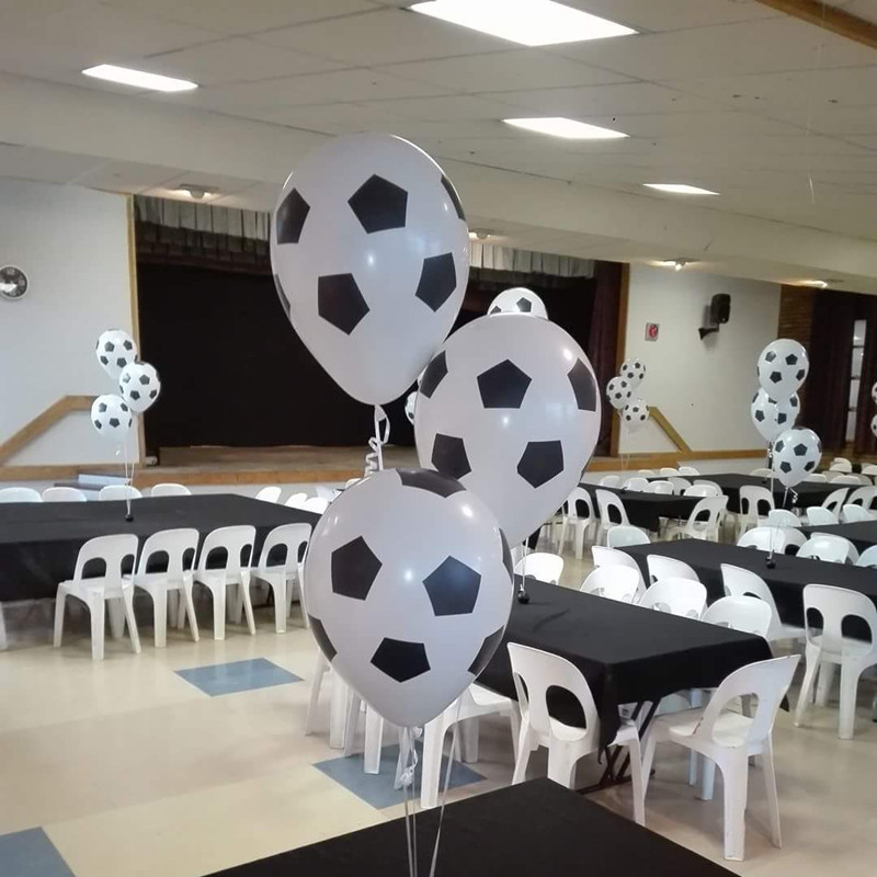 Football Soccer White Balloons Party Decorations Celebration Birthday Ballons