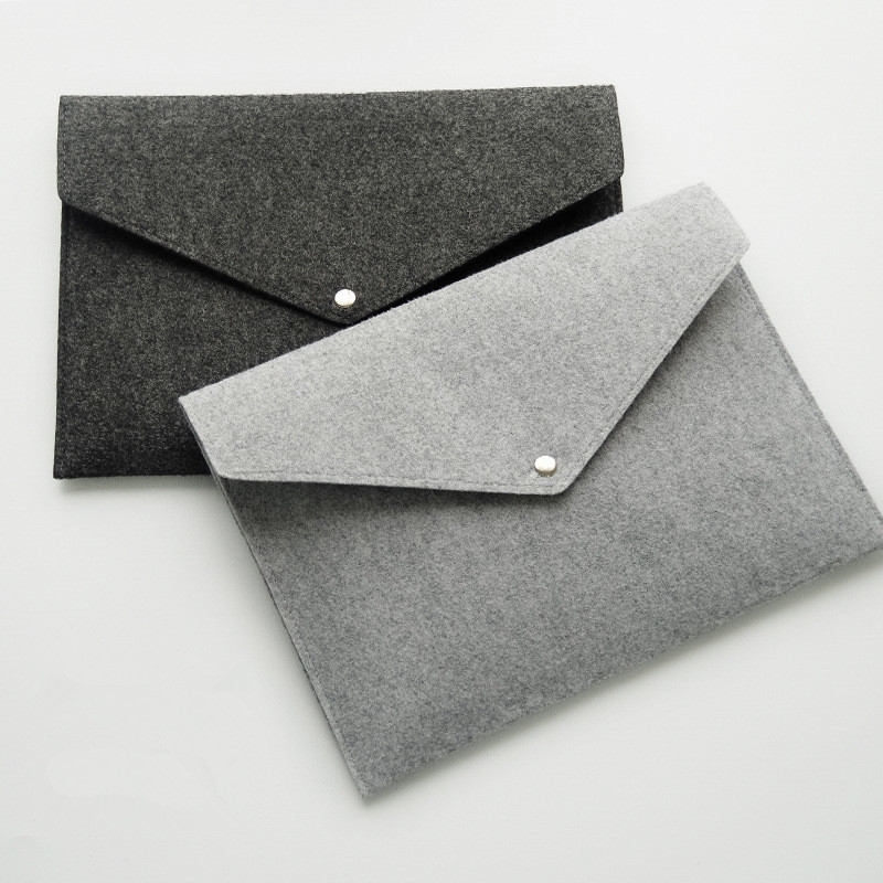 A4 Envelope Chemical Felt File Folder Durable Briefcase Document Bag Paper File Folders Carpetas Stationery For Office Supplies