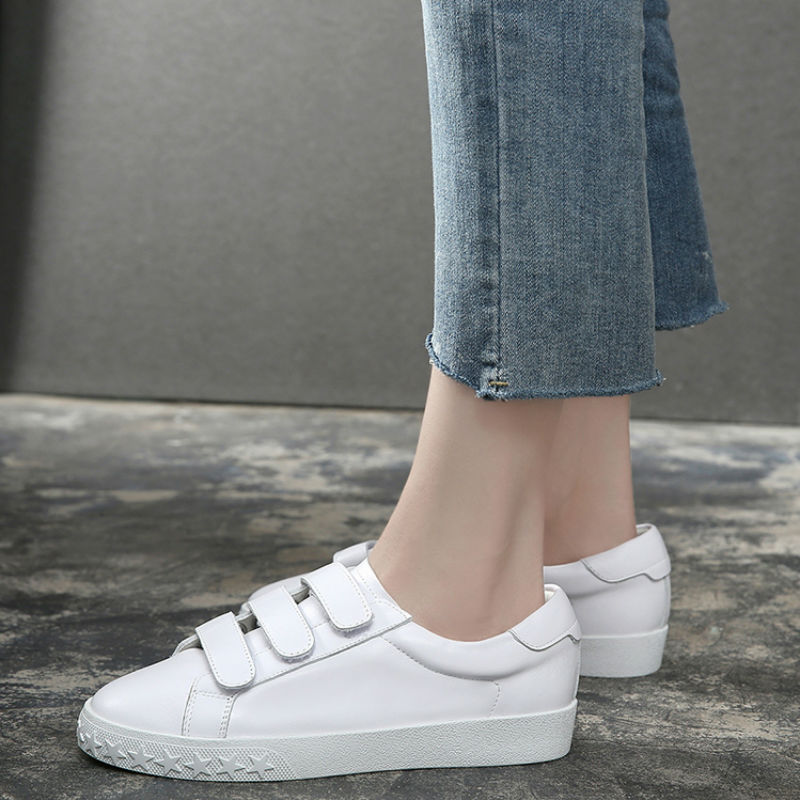 AME 2019 Women Genuine Leather Shoes White Sneakers Trainers Tennis Feminize Ladies Casual Shoes Zapatos De Mujer A225
