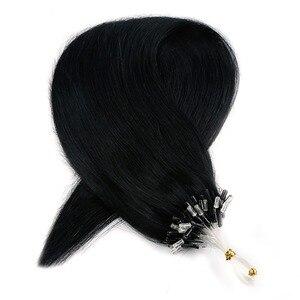 Neitsi مستقيم حلقة مايكرو حلقة الشعر 100% الإنسان مايكرو الخرزة الروابط آلة صنع شعر ريمي التمديد 16
