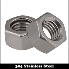 купить 20pcs 1/4 1/4 Inch 1/4-20 304 Stainless Steel SS American Form UNC Hex Hex Hexagon Nut дешево
