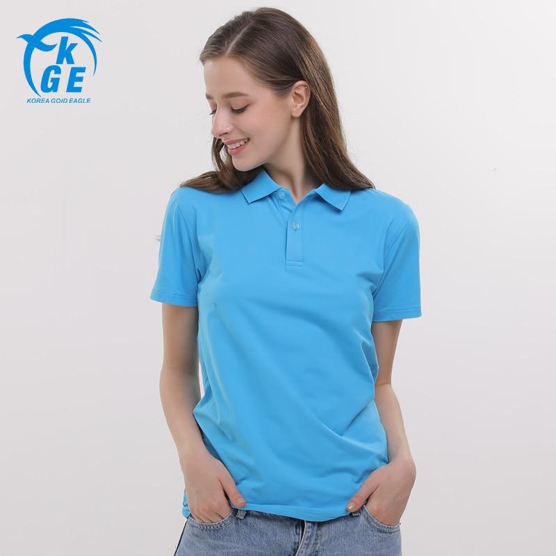 Can custom logo women fashion 2017 big size polo shirt for Womens button up polo shirts