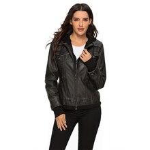 ESCALIER 2019 Winter Autumn Jacket Woman Faux Leather Women Hoodies Female Zipper PU