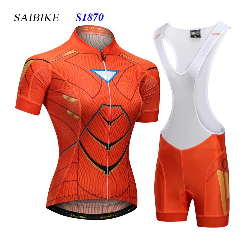 Super Hero Superman cycling jerseys set women cycling clothing short sleeves mtb bike bicycle bandana ropa