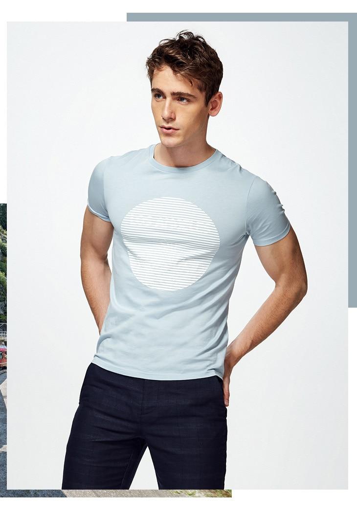 HTB1yQS6AWmWBuNjy1Xaq6xCbXXaB - SELECTED  cotton round collar short-sleeved T-shirt C|4182T4593