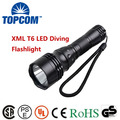 XM-L T6 U2 LED 1800Lm 5 Modes Waterproof Scuba Diving Flashlight Underwater Waterproof Submarine Light Lamp Flashlight Torch