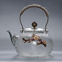 Alta temperatura pote de vidro bule chaleira elétrica fogão de cerâmica especial de cobre alça de vidro bule feixe Bules     -