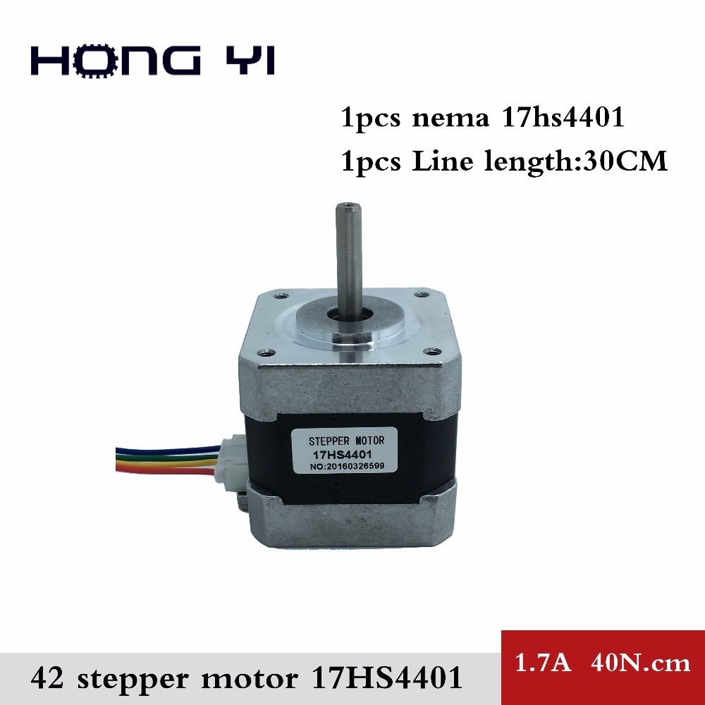 freeshipping Country 4-lead Nema17 Stepper Motor 42 motor NEMA 17 42BYGH 1.7A (17HS4401) use 3D printer CNC - Guangzhou, HongYi Automation Co., Ltd. store