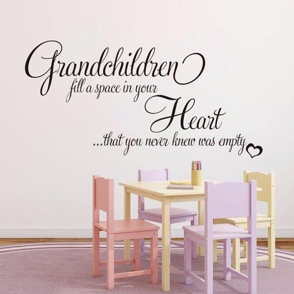 home decor grandchildren full a space in your heart wallpaper vinyl