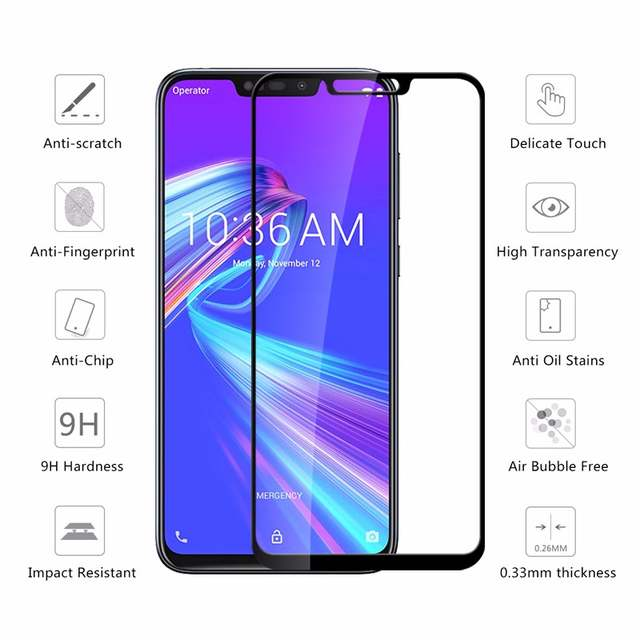 US $1 01 49% OFF|Protective Glass Max m2 pro ZB633kl film Tempered Glas on  the for Asus Zenfone Max Pro M2 ZB631KL m2pro m 2 maxpro glass Film-in