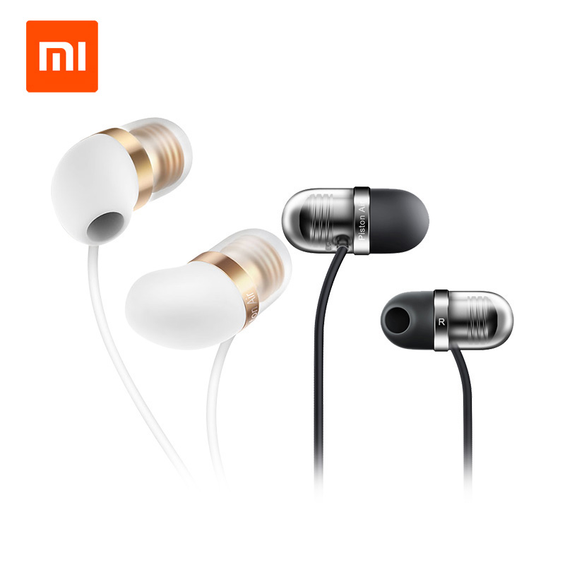 Original Xiaomi Mi In-Ear Earphone Capsule Piston Air With Mic Earphone Silicone Earphones For Cell Phone original xiaomi xiomi mi hybrid earphone 1more design in ear multi unit piston headset hifi for smart mobile phone fon de ouvido