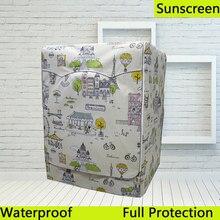 SRYSJS мультяшный водонепроницаемый чехол для стиральной машины для сушки солнцезащитный чехол с серебряным покрытием защитный чехол