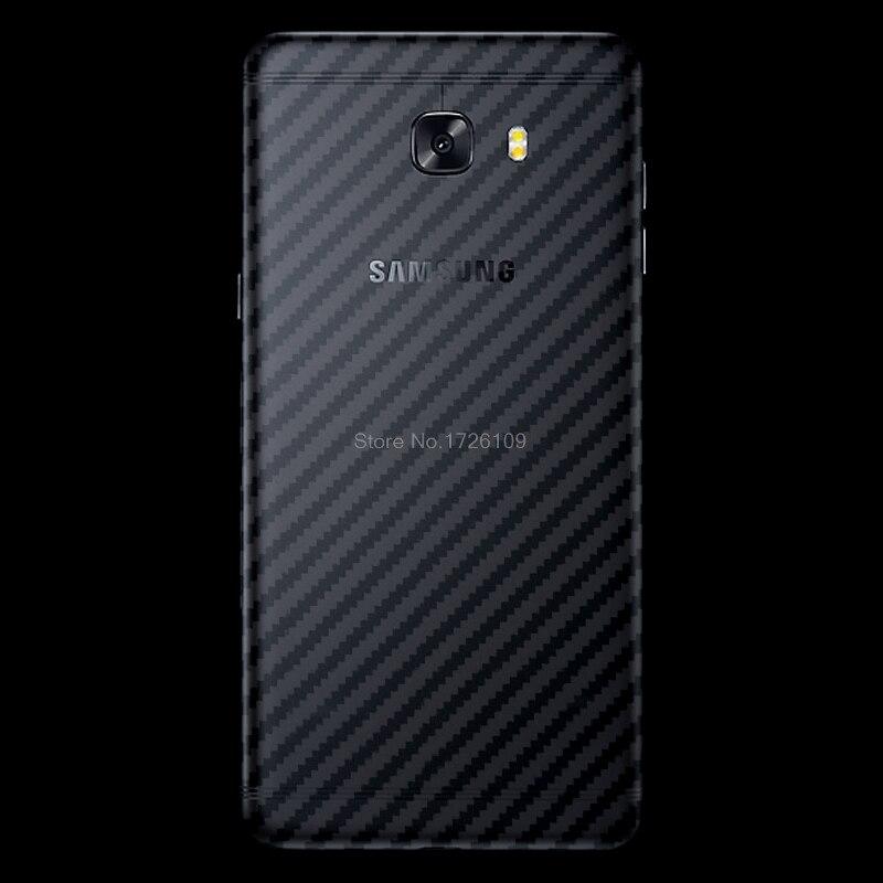 2 шт./лот Вернуться углеродного волокна Стикеры для samsung Galaxy C9 Pro Ultra Clear ультра тонкий Slim Fit Защитный Флим кожи чехол
