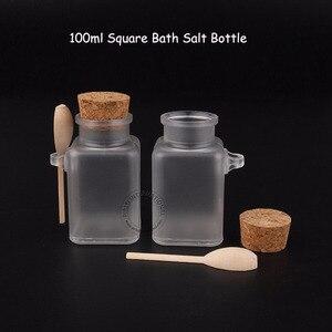 Image 2 - 35 шт./лот, оптовая продажа, 100 мл, женский косметический контейнер 10/3 унции, квадратная соль для ванны, флакон 100 г, маска для лица, крем баночка многоразового использования