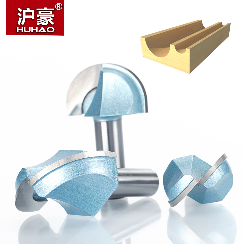 HUHAO 1pc 1/2 1/4 Shank Double Edging Router Bits For Wood Industrial Grade Cove Box Bit Woodworking Endmill Miiling Cutter best price 1 2 inch hss milling bits shank round nose cove core box router bit shaker cutter tools for woodworking