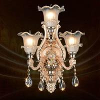 Modern Zinc Alloy Luxury Crystal Light E14 LED Wall Lamp Bedroom Bedside Lamp Aisle Wall Lamp AC 100% Guaranteed Free Shipping