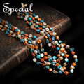 Especial nueva moda Natural collares de bohemia Multi-layer Maxi Neckalce regalos de joyas de época para para XL160313