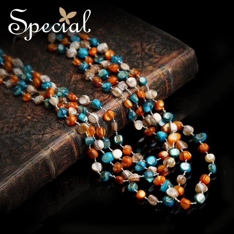 Special New Fashion Natural Necklaces Pendants Bohemian Multi layer Maxi Neckalce Vintage Jewelry Gifts for Women