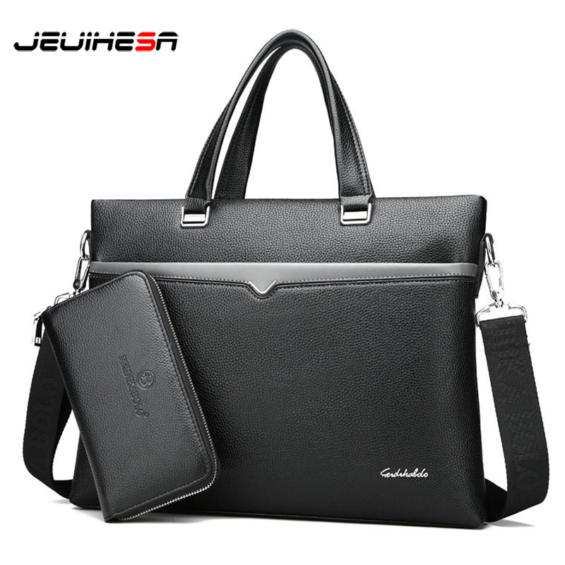 New Famous Brand Business Briefcase Men Bag Male Shoulder Laptop Bag Large Capacity Leather Handbag Messenger Bags High Quality baillr brand man bag black briefcase men business handbag messenger bags male vintage men s shoulder bag large capacity 2018new