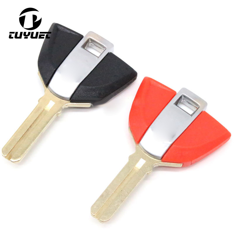 RED BLANK TRANSPONDER KEY SHELL FOR BMW MOTORCYCLE F650 F800 S1000RR R1200 K1200 K1300