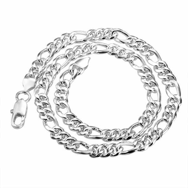 "Sterling Silver 925 Jewelry  925 Sterling Silver Jewelry 28"" Long Twisted Singapore Chains Pendant Necklaces N013-28"