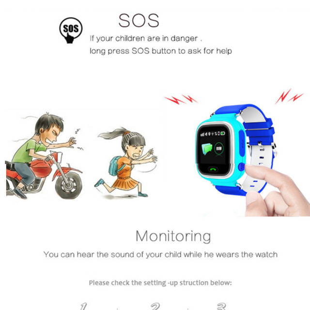 Q90 GPS Kid Smart Watch Baby Anti-lost Watch with Wifi Touch Screen SOS Call Location Device Tracker for Children Safe Monitor 4