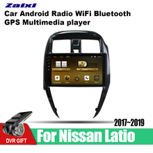 ZaiXi Android Car GPS Multimedia Player For Nissan Latio 2017~2019 car Navigation radio Video Audio WiFi Bluetooth