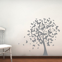 YOYOYU 40 colors Vinyl wall stickers muraux ButterFlies onTree Pattern Removeable Wall Decal Livingroom Bedroom Wall Decor ZX189