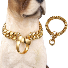 Gold Chains Dog Pet Leashes Stainless Steel Slip Training Pinch Collars for Small Medium Large Dogs Puppy Dogs Supplies