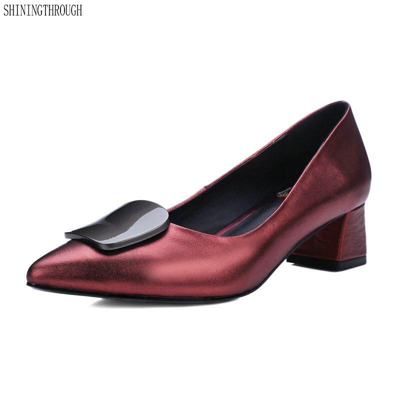 Boda Zapatos Mujer A Confort Mano Mujeres Nueva Cuero Moda Hecho rUqwUZI