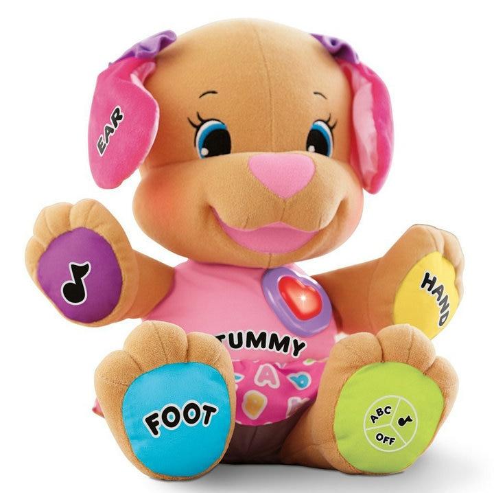Bébé Musical En Peluche Jouets Électroniques Chien Chantant En Anglais Chansons Learning & Education Aiment Jouer Chiot enfants jouets pour enfants