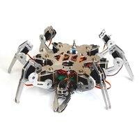 Программирования Arduino бионический Паук Робот 6 футов робот большой крутящий момент сервопривода с Ps2 контроллер