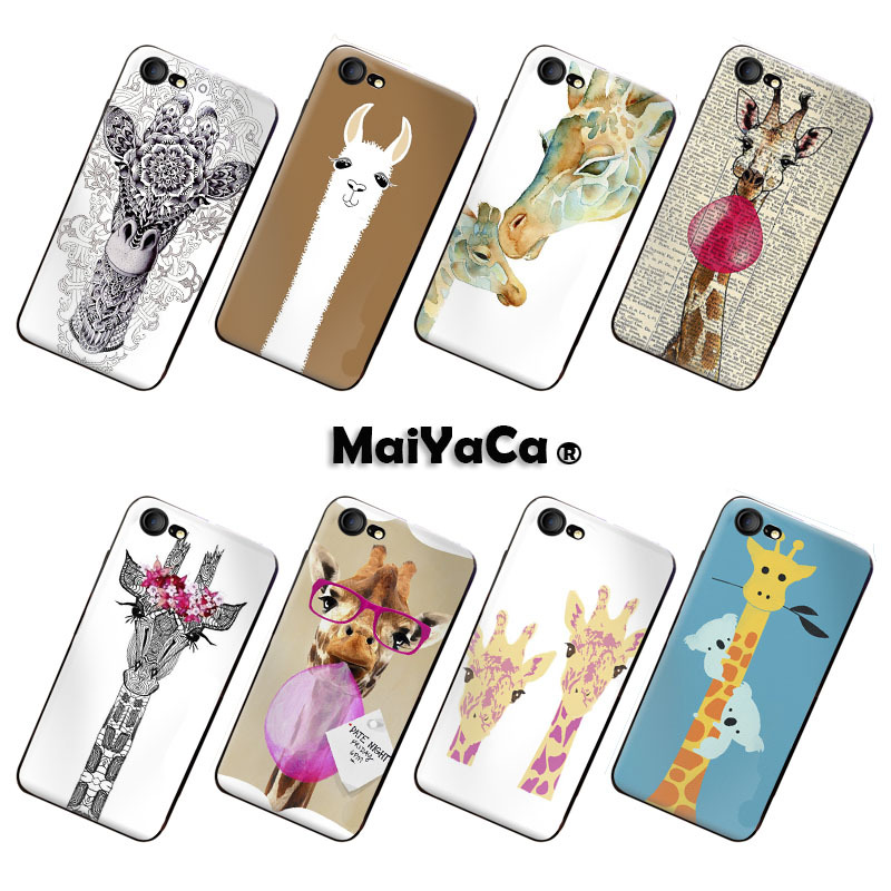 MaiYaCa phone case Accessories cover For iPhone 7 Case FLOWER GIRL giraffe