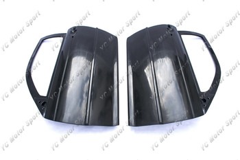 Car Accessories FRP Fiber Glass Track Version Doors Fit For 1998-2005 E46 3 Series Coupe Door Panel Card Cover