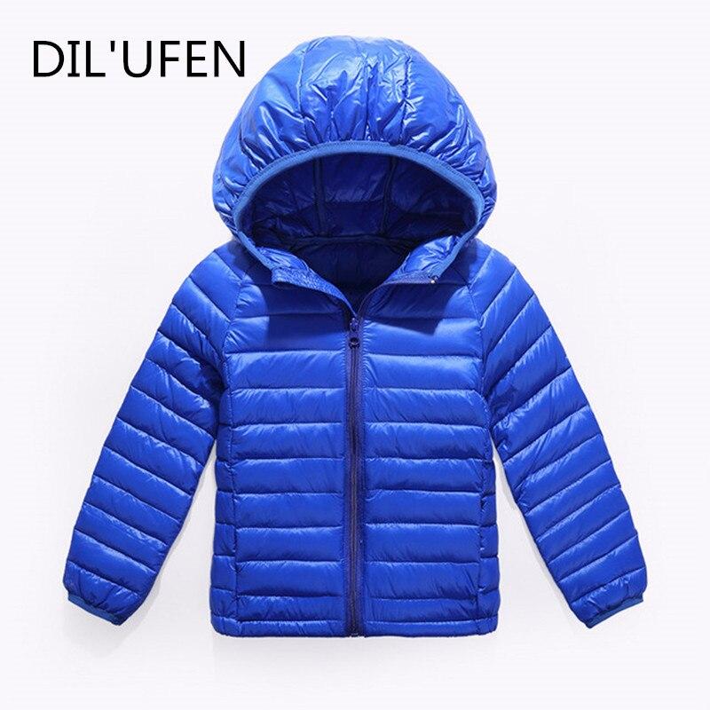 DIL'UFEN brand 90% duck feather Ultra light Boys Girls children's Autumn Winter jackets Baby down coat Jackets outerwear