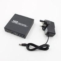 Escalas de Señal Scart HDMI a HDMI 720 P 1080 P HD Video Converter Caja del monitor Con REINO UNIDO Plug Power Adaptador Para TVAD DVD STB proyector